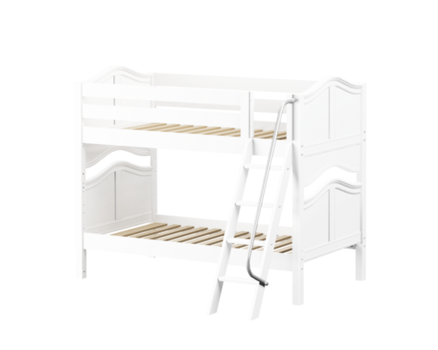 HotShot Low Bunk Bed in White and Curved Panels
