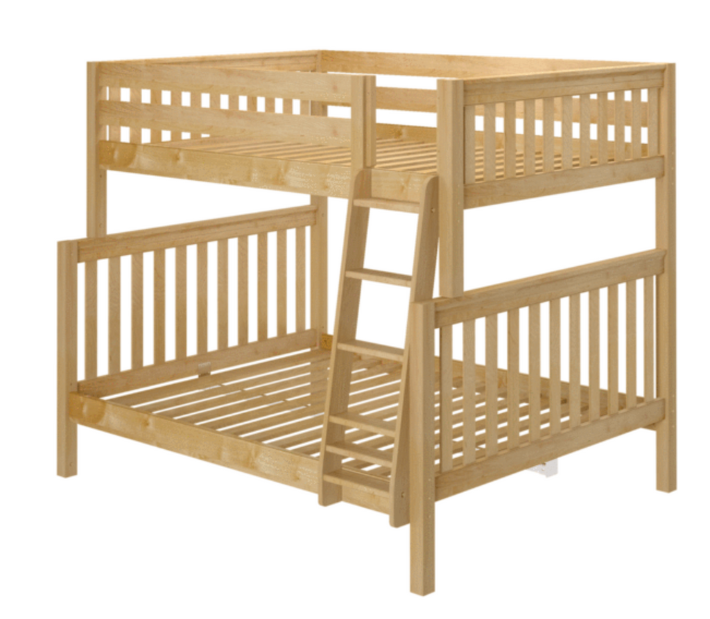 high full xl over queen bunk bed with ladder