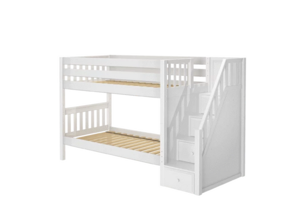 stacker twin bunk beds with stairs