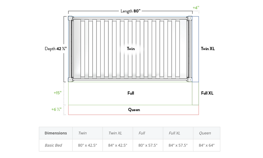 measurements for twin xl bunk beds and kids beds
