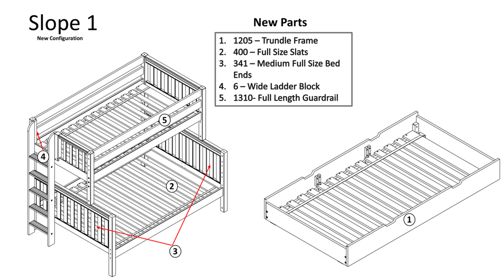 twin over full bunk bed configuration