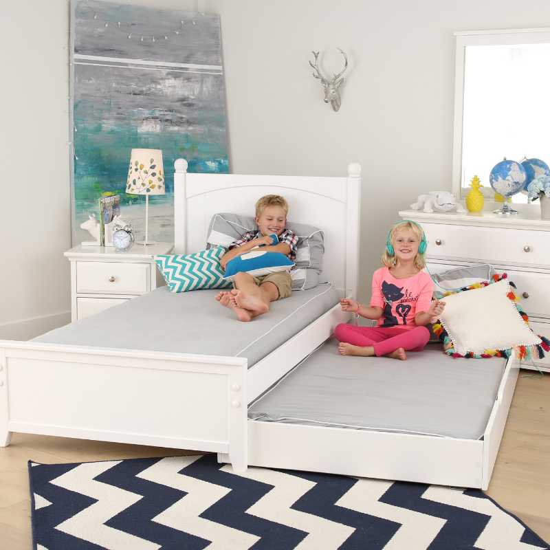 twin bed for kids with trundle
