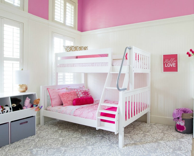 twin over full bunk beds with ladder
