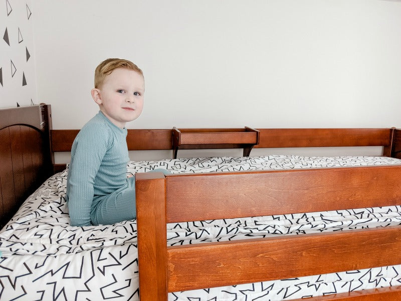 toddler bed with guardrail