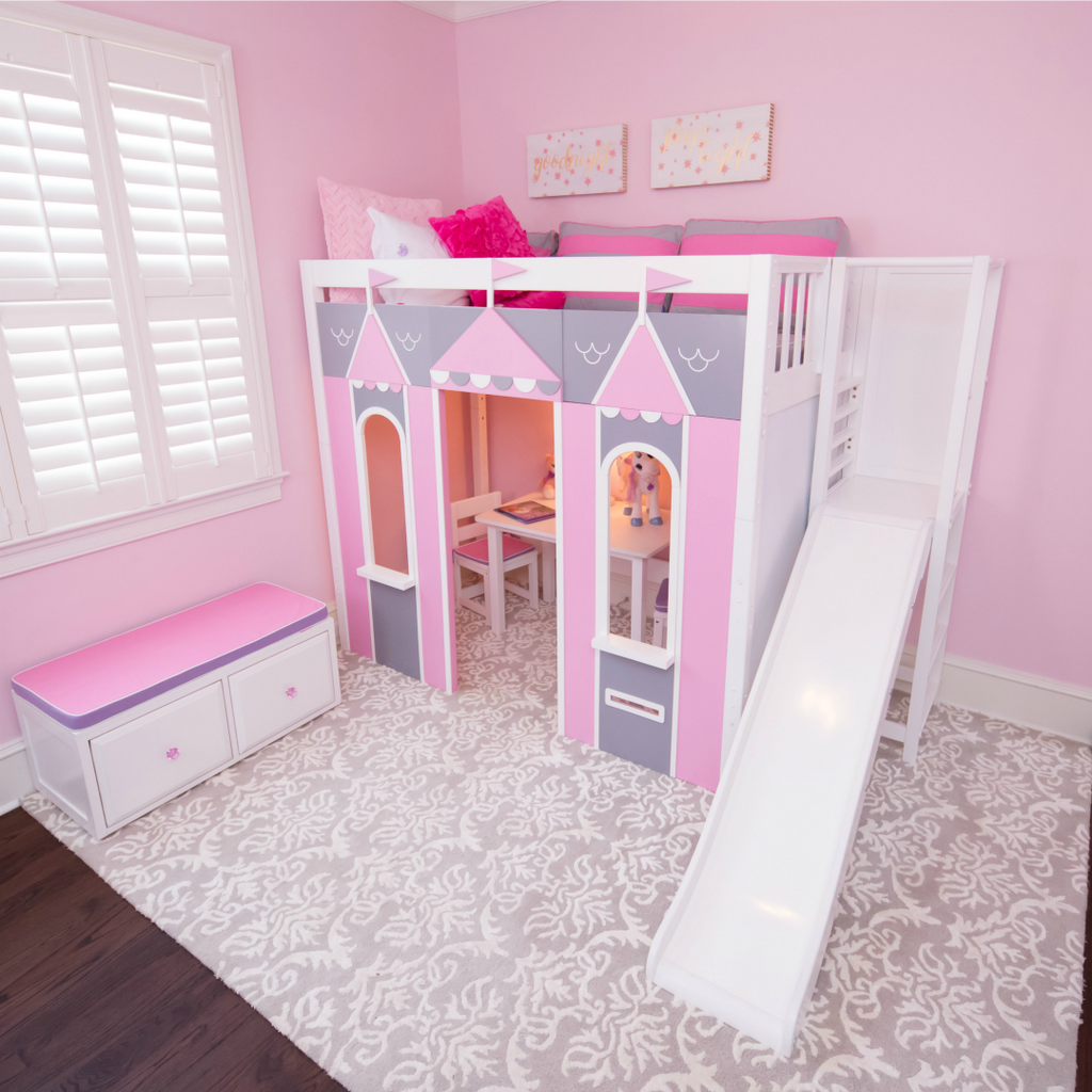 fairytale castle bed themed girls room