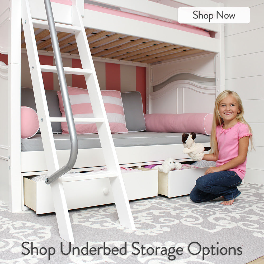 under bed storage drawers bunk beds