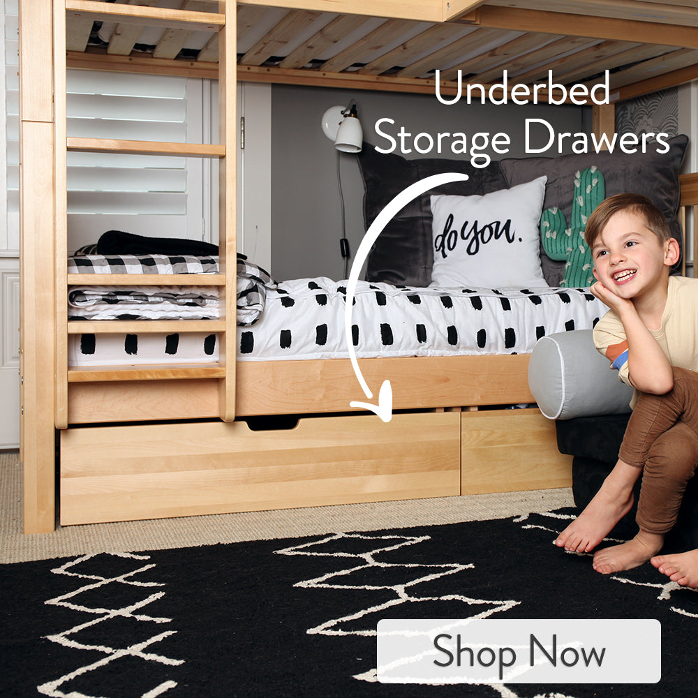 Under Bed Storage Drawers for Bunk Beds