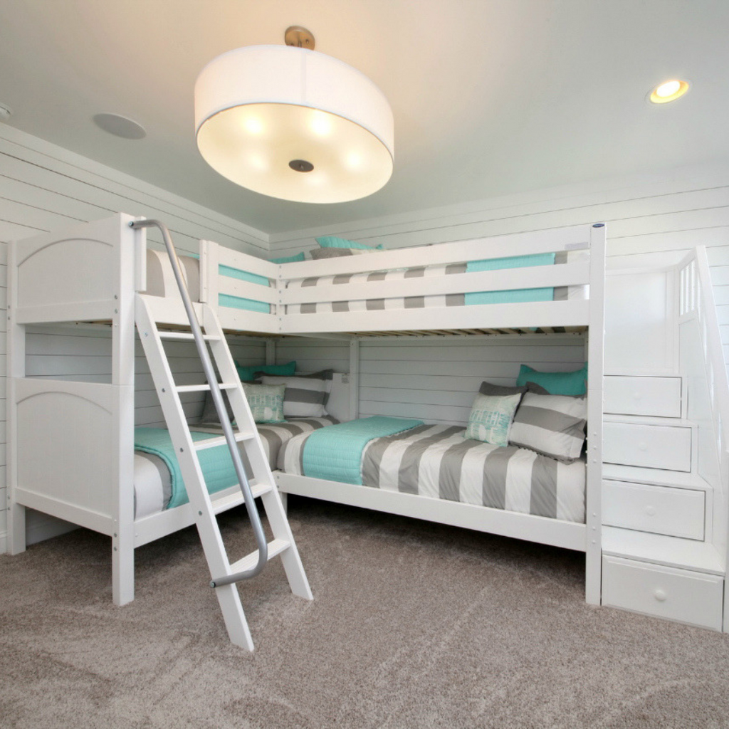 quadruple bunk bed with stairs