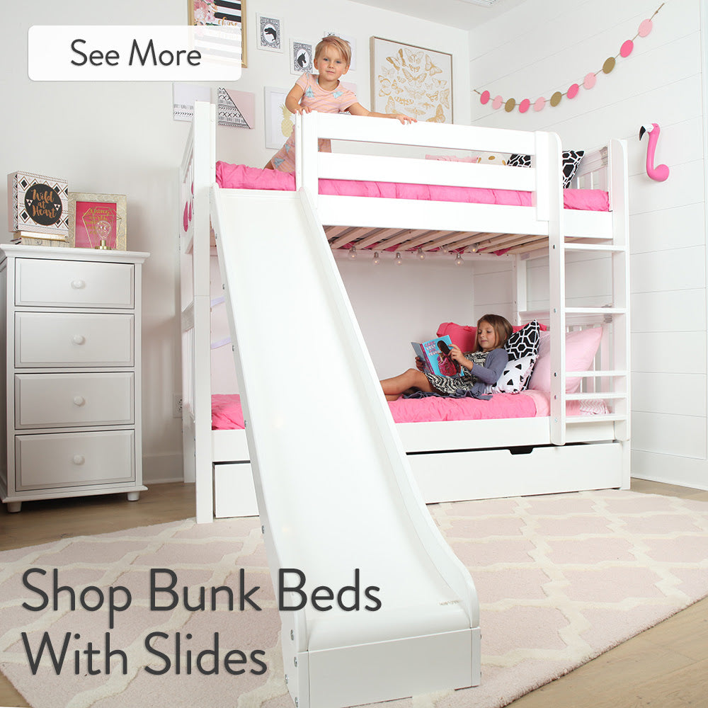 add a slide to your high bunk bed with