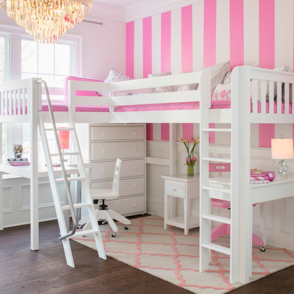 best high corner loft bed