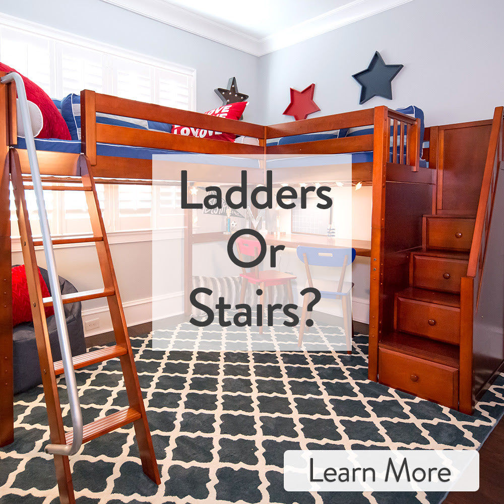 ladders or stairs for bunk beds