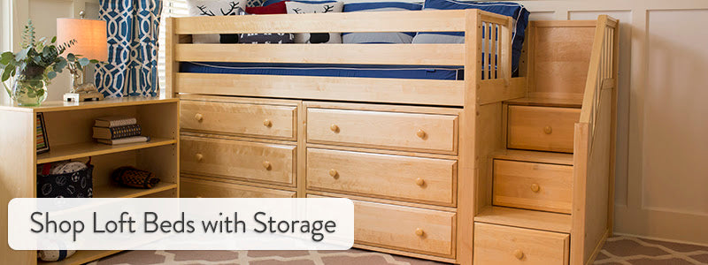 shop kids loft beds with storage