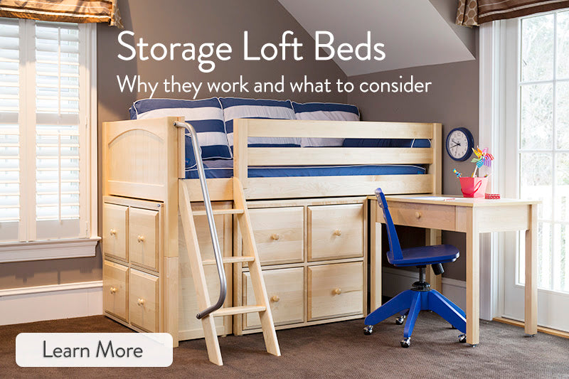 loft beds with storage for kids