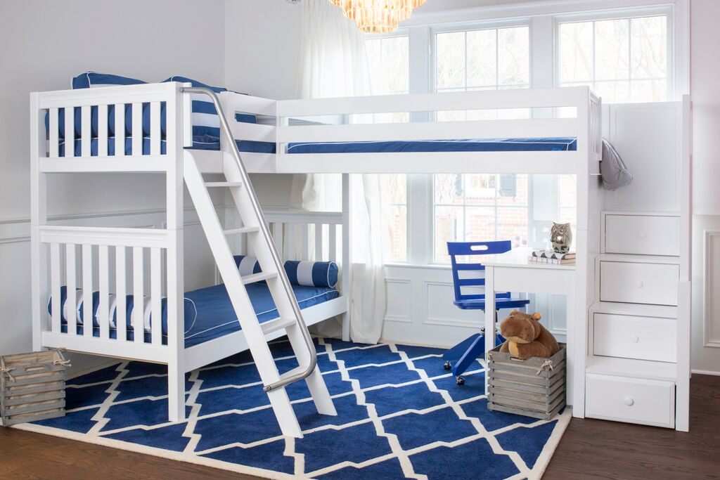 l shaped bunk beds with stairs