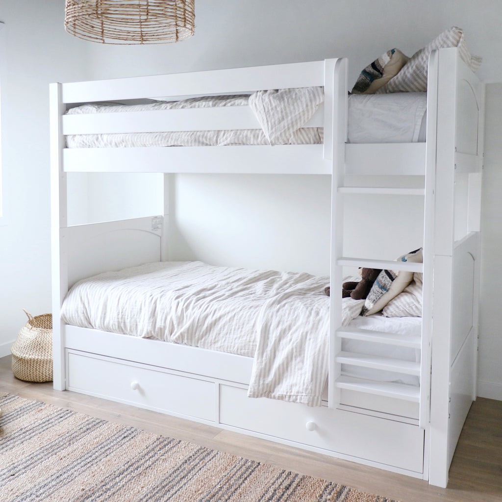 twin bunk bed with underbed storage