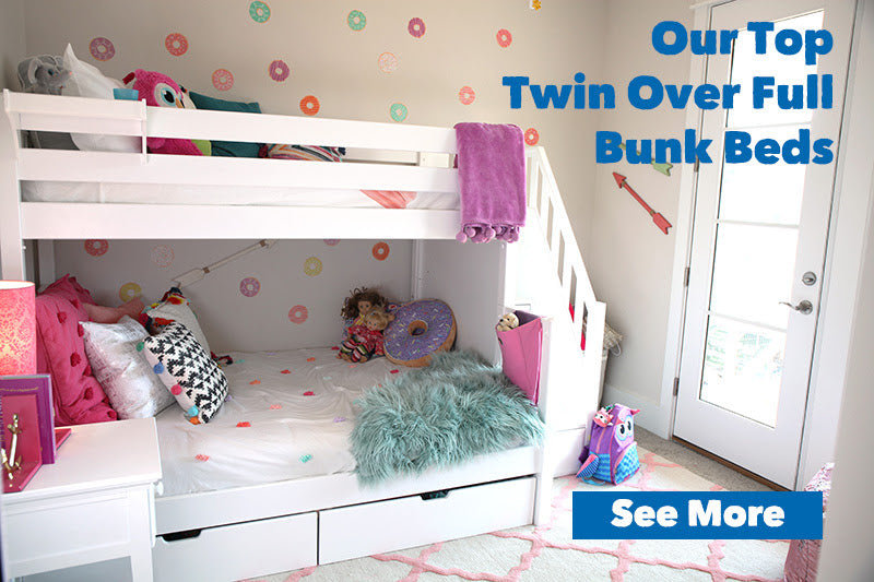 Top Twin Over Full Bunk Beds
