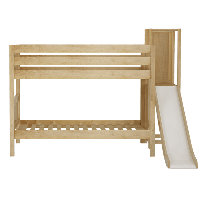 Twin Low Bunk Bed with Slide Platform