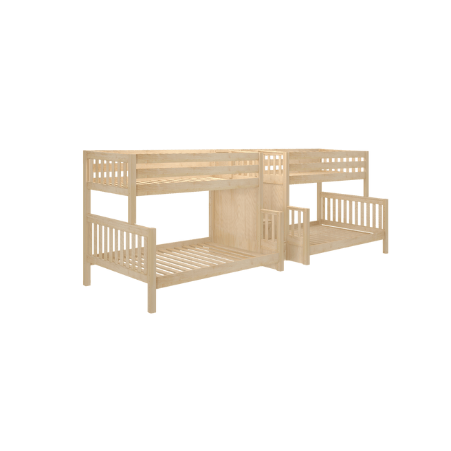Twin over Full Quadruple Bunk Bed with Stairs