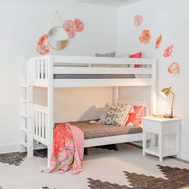 Twin Bunk Bed with Ladder on End