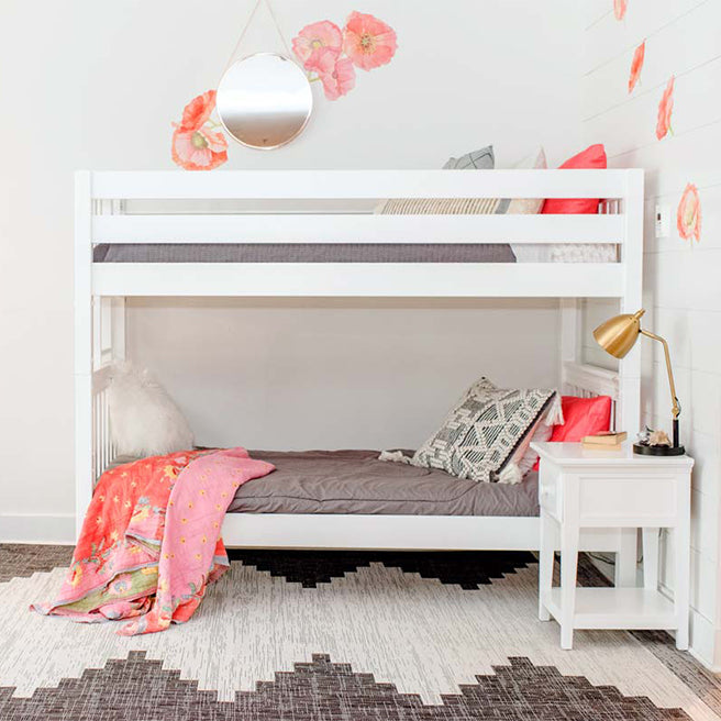 Twin XL Bunk Bed with Ladder on End