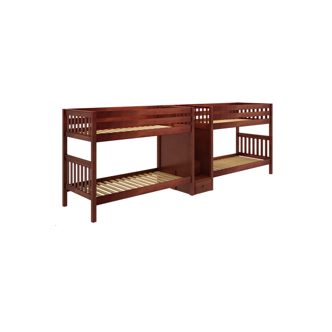 Twin Medium Quadruple Bunk Bed with Stairs