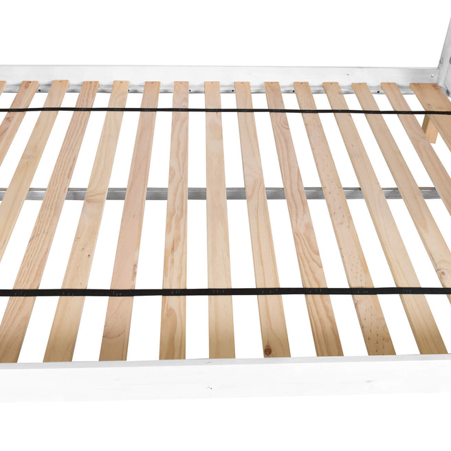 High Twin XL Over Queen Bunk Bed with Ladder