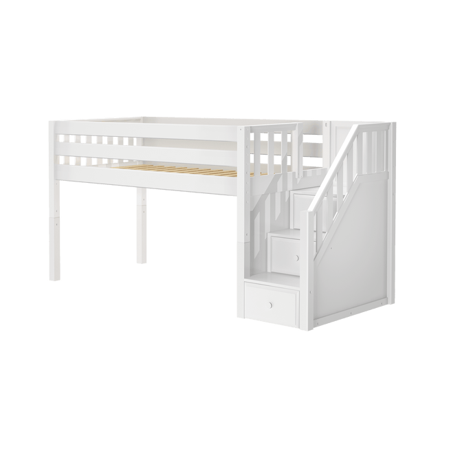 TEST Twin Low Loft Bed with Stairs TEST