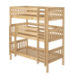 Twin Triple Bunk Bed with Ladder