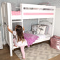 Twin Medium Bunk Bed with Straight Ladder + Curtain
