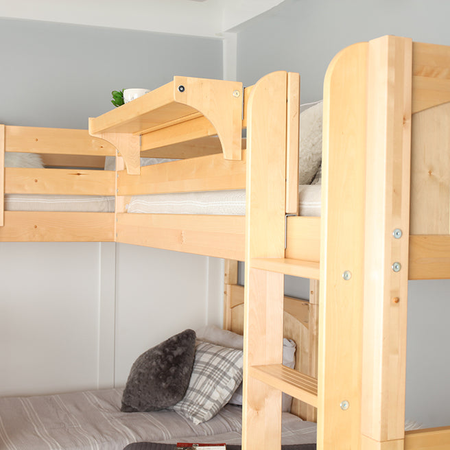 High Corner Bunk Bed - Queen over Queen + Twin XL over Twin XL