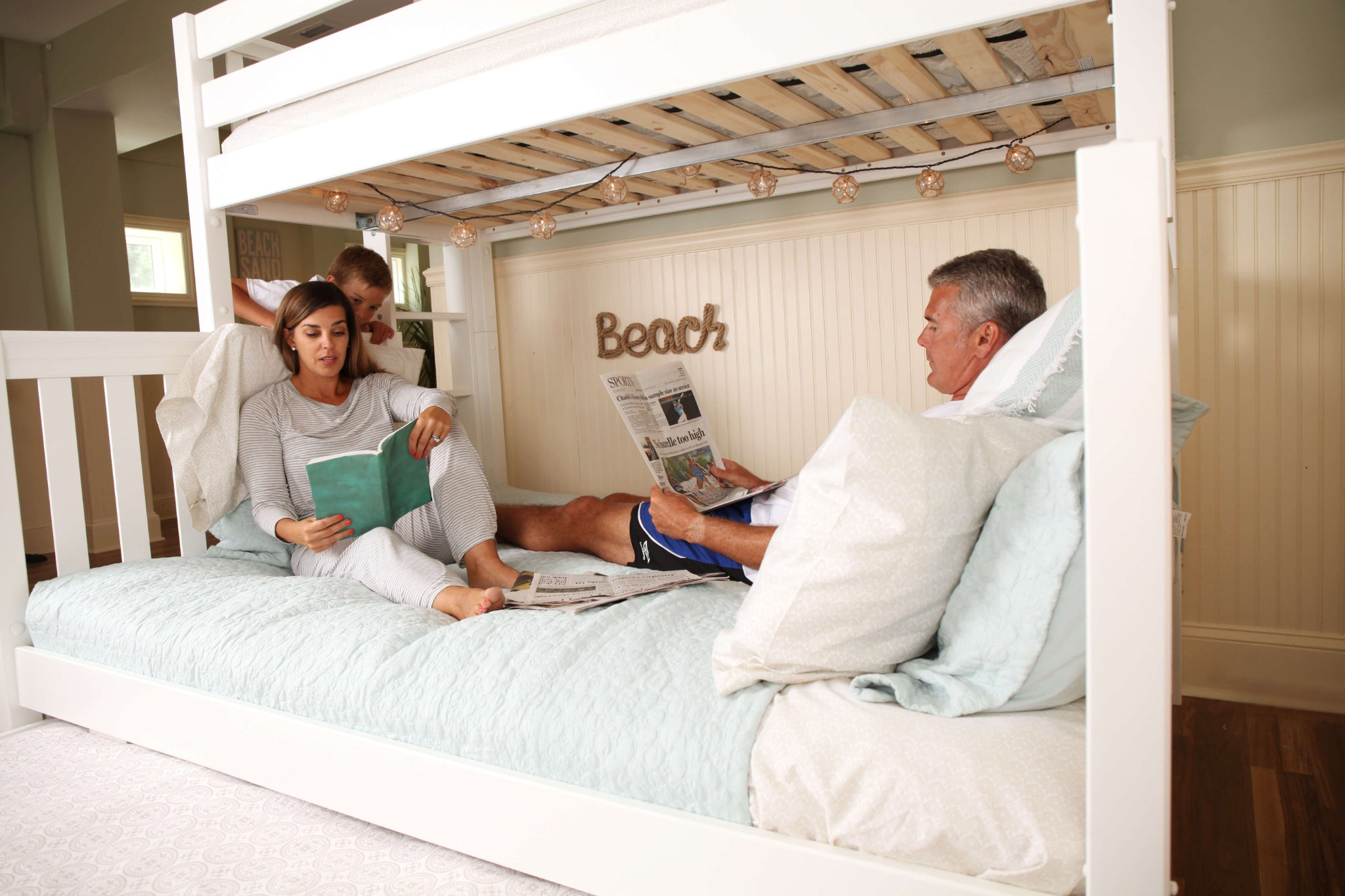 Picture of: High Twin Xl Over Queen Bunk Bed With Ladder Maxtrix Kids