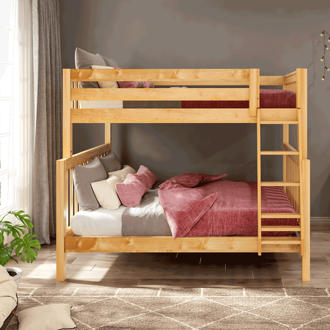 High Full XL over Queen Bunk Bed