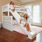 Twin over Full Medium Bunk Bed + Slide