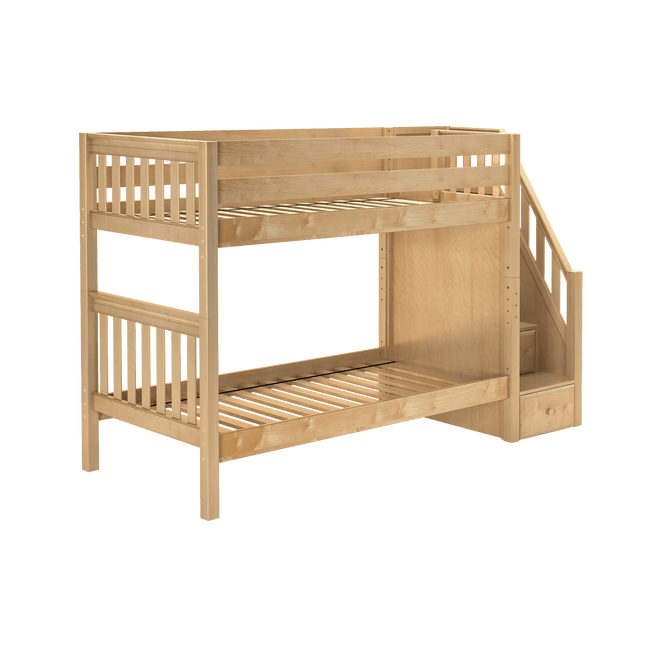 Twin Medium Bunk Bed with Stairs