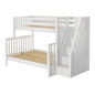 High Twin XL over Full XL Bunk Bed with Stairs