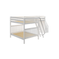 Full High Corner Loft Bunk Bed with Ladder + Stairs - L