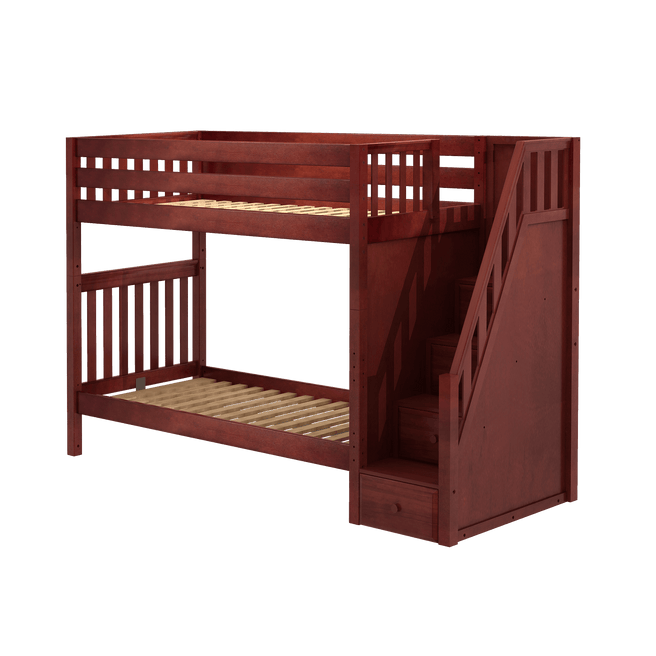 Twin XL High Bunk Bed with Stairs