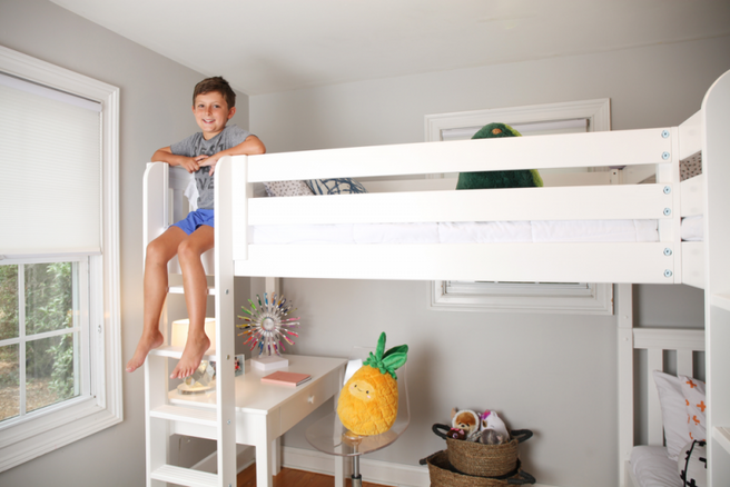 Twin High Corner Loft Bunk Bed