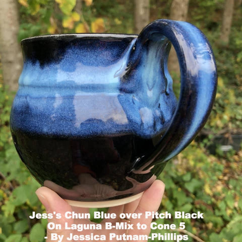 Clayscapes  Pottery Signature Line Glaze - Jess's Chun Blue