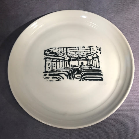 "Pottery Tattoo'd Porcelain Plates (9.5"")"