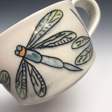 Black  Dragonfly  Multi Porcelain Mug