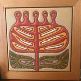 "Amy's  Doodle  Tiles - 6""x6"" Original Tile in Wood Frame"