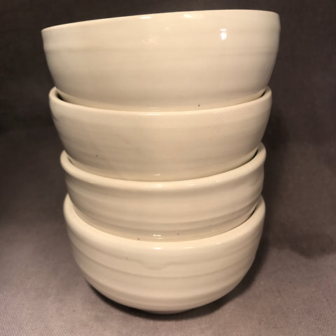 Set of (4) English Porcelain Everyday Utilitarian Bowls