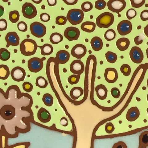 "Amy's Doodle Tiles 6""x6"" - Bubble Tree"