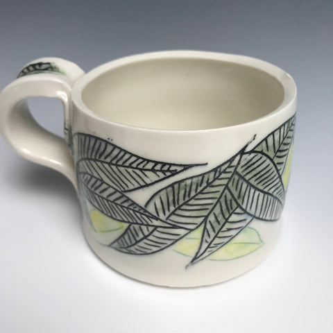 Black  Limon  Leaves Mug