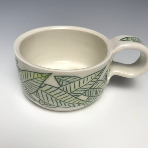 Green  Limon Leaves Mug