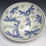 "Blue  Dragonfly  Serving Bowl (Approx 10"" Diameter)"