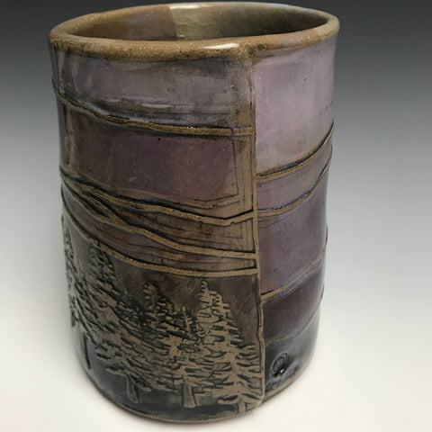 Purple  Mountains Majesty Vase