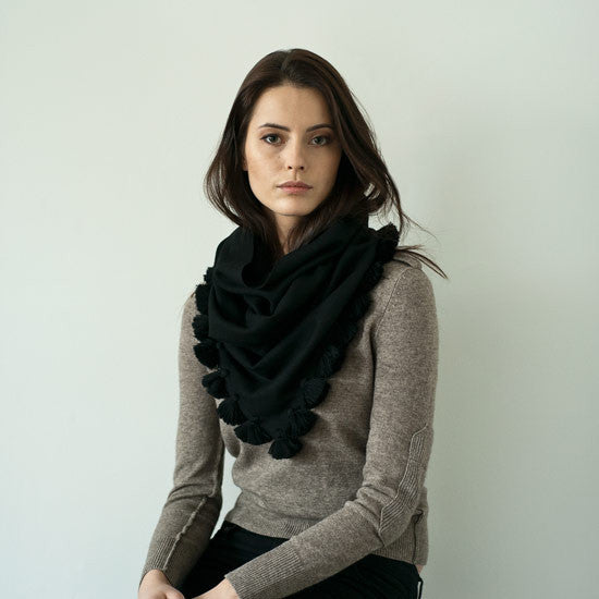 Cashmere Bandit Cowl with Tassels
