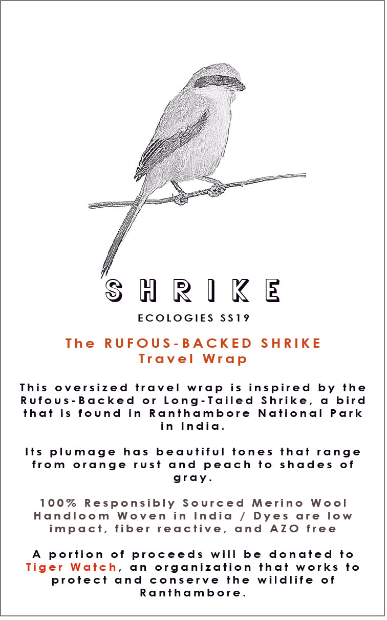 RUFOUS-BACKED SHRIKE Travel Wrap
